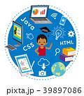 プログラミング教育 男の子 インド人のイラスト 39897086