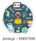 プログラミング教育 シニア 男性のイラスト 39897096