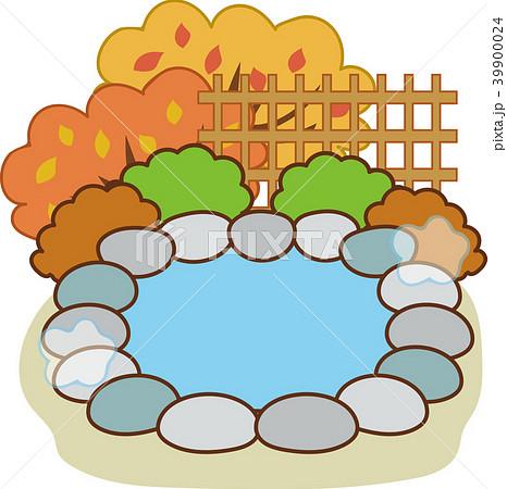 秋の露天風呂温泉イラスト素材のイラスト素材 39900024 Pixta