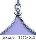 Metal zipper on purple background front view 3D 39904013