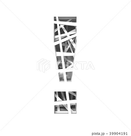 paper cut out font exclamation mark 3dのイラスト素材 39904191 pixta