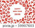 年賀状 縁起物 新年のイラスト 39907603