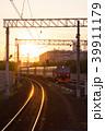 橙 レール 鉄道の写真 39911179