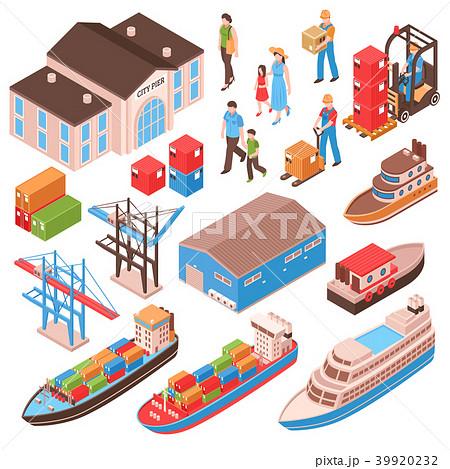 Sea Port Isometric Set 39920232