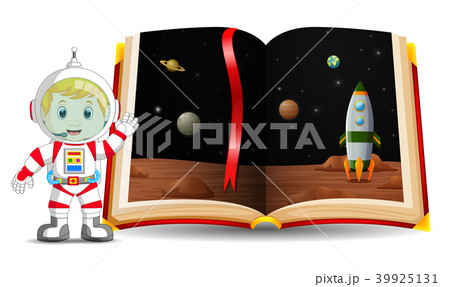 planet scenery in the book and kid 39925131