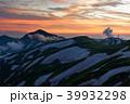 夕暮れの飯豊連峰・大日岳 39932298