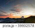 夕暮れの飯豊本山と大日岳 39932578