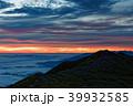 飯豊本山から見る夜明けの雲海と本山小屋 39932585