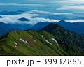 飯豊本山から見る夜明けのダイグラ尾根と雲海 39932885