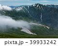 飯豊本山から見る雲流れる北股岳方面 39933242