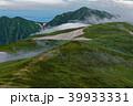 朝の飯豊本山から見る雲流れる大日岳 39933331