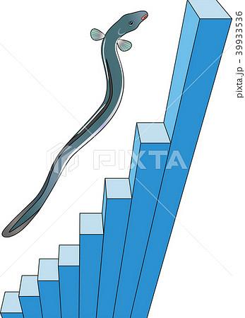 ウナギのぼりと3D棒グラフのイラスト素材 [39933536] - PIXTA