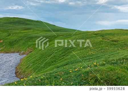 ニッコウキスゲ咲く飯豊連峰・御西岳への稜線 39933628