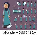 女性 ムスリム シニアのイラスト 39934920