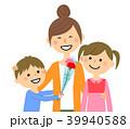 親子 母の日 カーネーションのイラスト 39940588