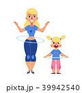 女性 メス フラフープのイラスト 39942540