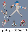 スポーツ 選手 ベースボールのイラスト 39942831
