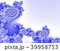 Blue Decorative Fractal Background 39958753