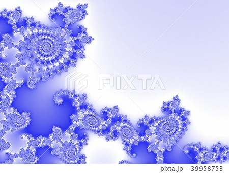 Blue Decorative Fractal Background 39958753