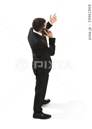 back view portrait of a businessman confident professional with