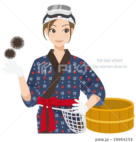 がんばるオンナノコ 海女さん 39964259