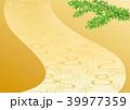 背景 流水模様 金地のイラスト 39977359