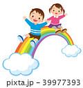 虹 子供 笑顔のイラスト 39977393