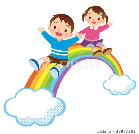 虹と子供たち 39977393