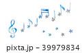 水彩 音符 音楽のイラスト 39979834