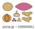 玉ねぎ、いも類_茶ライン 39980891