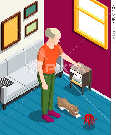 Games With Cat Isometric Background 39981407