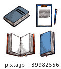 ブック メモ帳 スケッチのイラスト 39982556