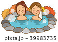 温泉 ベクター 露天風呂のイラスト 39983735