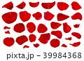 バラ 花びら 紅のイラスト 39984368