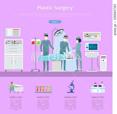 Plastic Surgery Description Vector Illustration 39984785