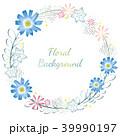 花 花輪 水彩画のイラスト 39990197