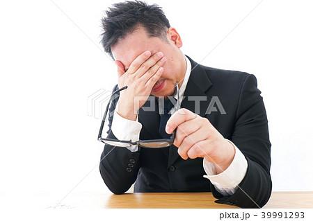 長時間労働に疲れるビジネスマン・働き方改革 39991293