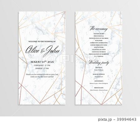 double sided wedding program templateのイラスト素材 39994643 pixta