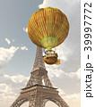 エッフェル塔 空想的 気球のイラスト 39997772