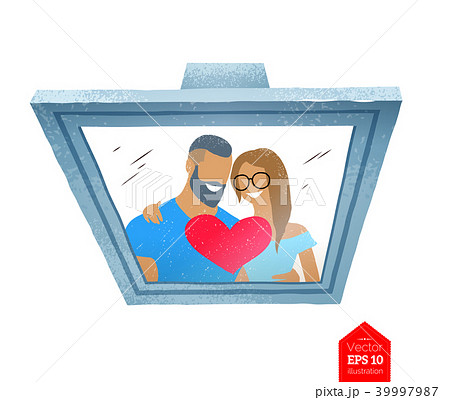 Top view illustration of photo frame 39997987