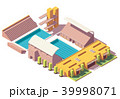 Vector isometric low poly swimming pool 39998071
