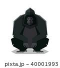 ごりら ゴリラ 動物のイラスト 40001993