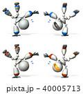 ブレークダンス ロボット CGのイラスト 40005713
