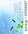 金魚 もみじ 暑中見舞いのイラスト 40006887