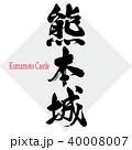 熊本城・Kumamoto Castle(筆文字・手書き) 40008007