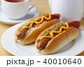 ホットドッグ パン 昼食の写真 40010640