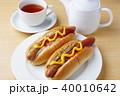 ホットドッグ パン 昼食の写真 40010642