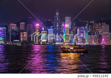 《香港》香港の夜景 40011340