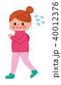女性 ウォーキング ダイエットのイラスト 40012376