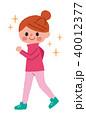 女性 ウォーキング ダイエットのイラスト 40012377